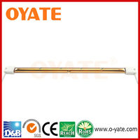Gold reflecter quartz infrared Heating Lamp ,spot supply 235V ,1000W