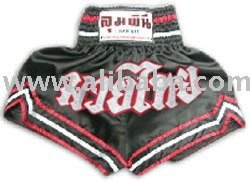 Muay Thai Shorts (Black-Red)