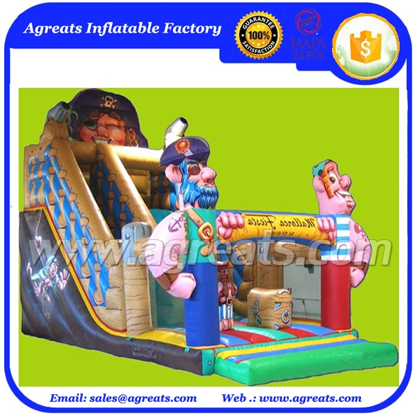 inflatable slide bounce pirates combo, inflatable cartoon jumping castles slide cheap on sale G4077