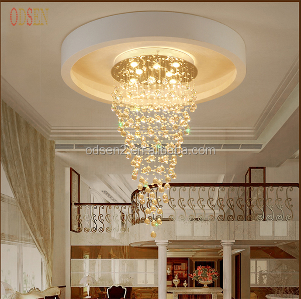 2016 Modern Ceiling Light Rectangular Crystal Chandelier