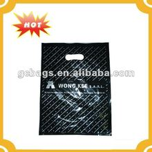 Die cut plastic bags for hair extensions