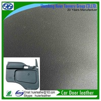 Leather car door with good anti-corrosion and low temperature resistant