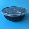 1050ml /38oz black round plastic microwave container/plastic disposable food container