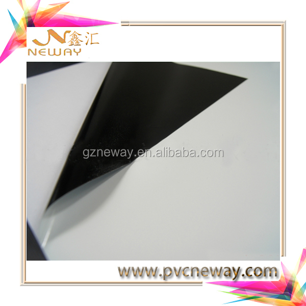 roll of glossy outdoor printing vinyl black permanent adhesive