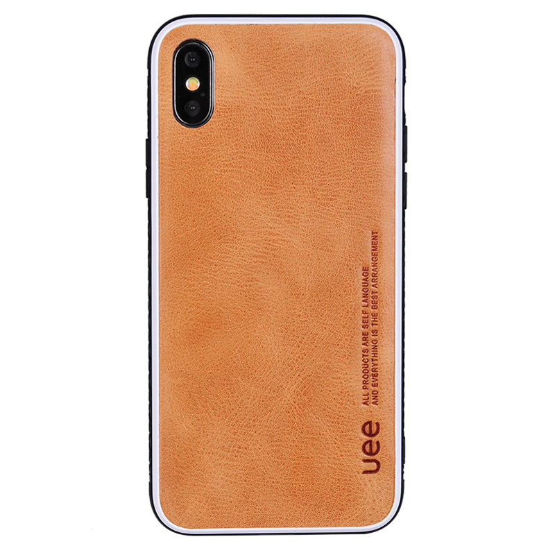 Real Leather Phone Case UEE Luxury Phone Case High Quality Leather Case for iPhone X