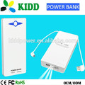 Best selling Double USB output wallet portable power bank 20000mah for smart phone