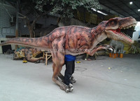professional manufacturer silicon rubber mechanical dinosaur costume T-rex
