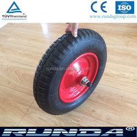 pneumatic wheelbarrow wheel and 3.50-8 rubber wheel