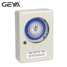 GEYA TB35 Battery Powered Timer Switch 24 Hours 15 Minutes Interval Daily Mechanical Time Switch