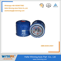 Hot sell hyundai auto engine oil filter OEM 26300-35501