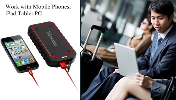 High capacity external mobile battery car jump power bank