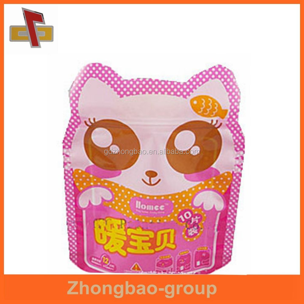 guangzhou food packaging snack cat shape bag for food