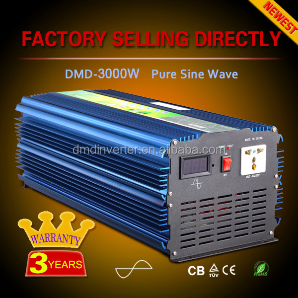pure sine wave off grid single phase 48vdc-220vac power inverter for auto 1000w 2000w 3000w 4000w 5000w