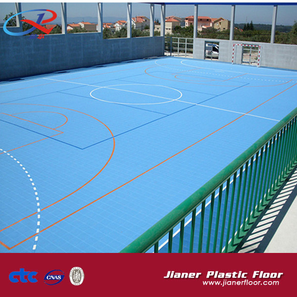 Outdoor Basketball Court Floor Interlock Floor
