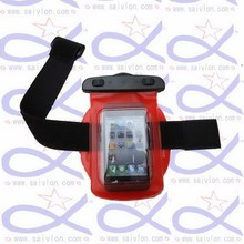 Customized most popular waterproof neck phone lanyard pouch