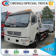 DONGFENG 4*2 100hp flatbed wrecker flat bed tow truck for sale