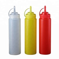 China cheap plastic sauce squeeze bottle 8oz 12oz 16oz 32oz