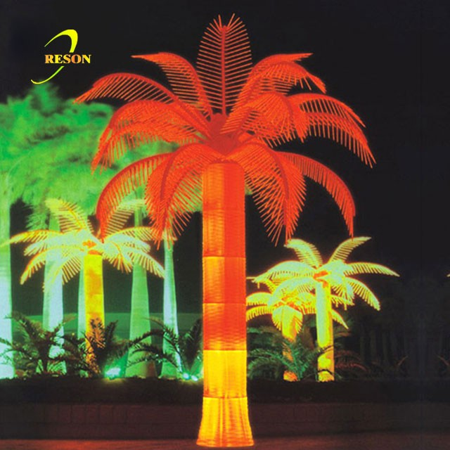 Outdoor Hotel & Villa Shining Led Palm Tree Lights