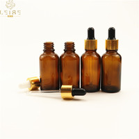 30ml 50ml essential oil dropper glass bottle with gold cap 1oz 1.7oz