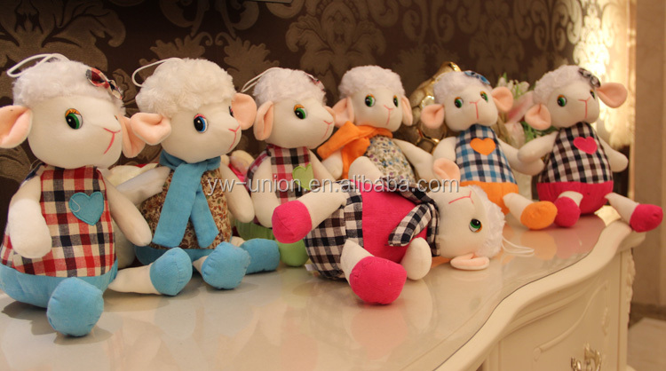 Hot sale Asia cute lamb toys /Alibaba sale Mascot sheep Stuffed Toy, Plush Stuffed soft sheep toy