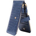 RFID Blocking Women's Genuine Leather Wallet Credit Card Holder Zipper Purse