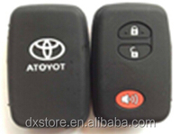 2+1 buttons silicone key cover for Toyota Camry key cover Toyota silicone rubber car key covers