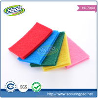 2016 colorful home scouring pad/Free samples cleaning pad