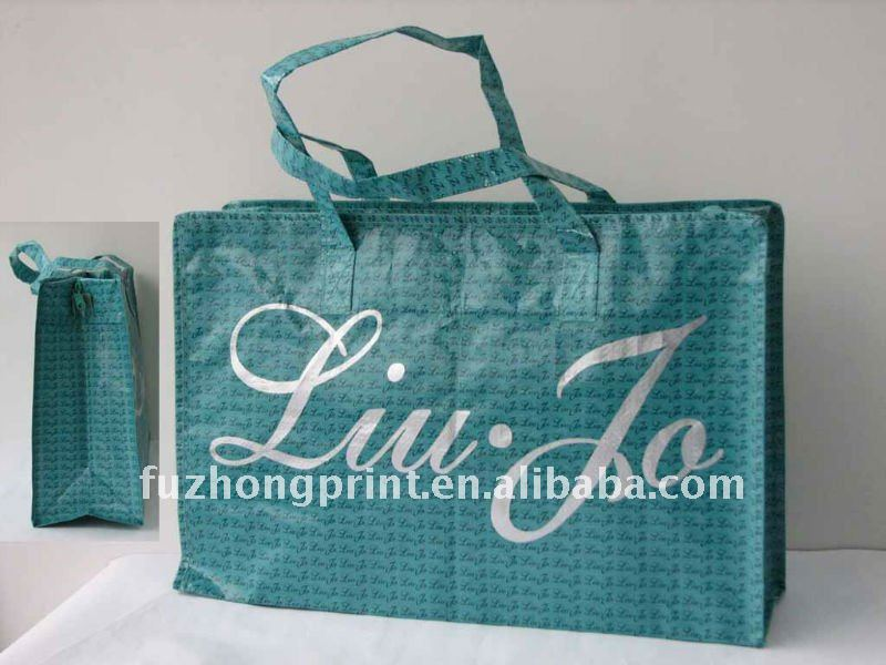 colorful laminated pp woven shopping bag