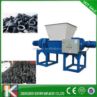 new design tire tyre shredder grinder/tire recycling plant /glass plastic crusher machine for sale