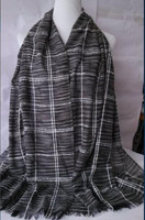 Hot Sale Luxury plaid italian cashmere scarf direct from factory