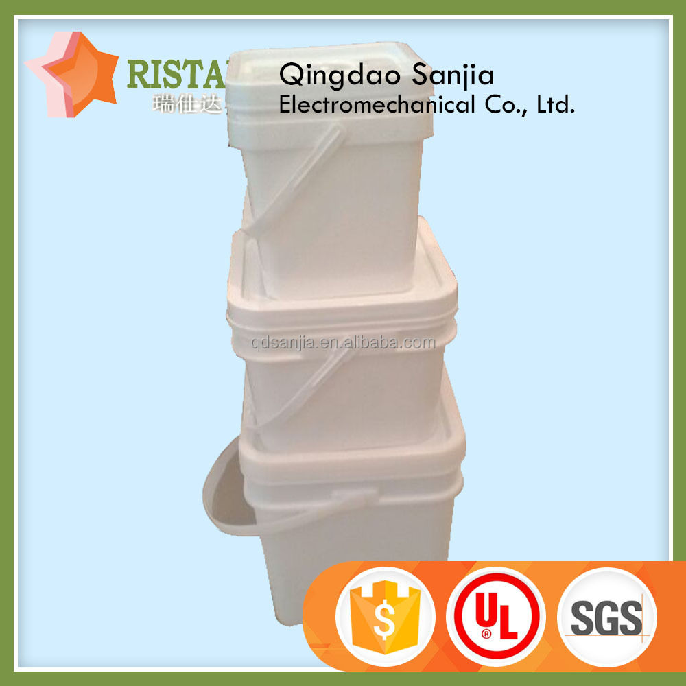 Rectangular Plastic Pail With Handle Square Food Grade Bucket