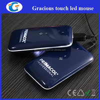 Led lights flat mouse with touch scroll sensor