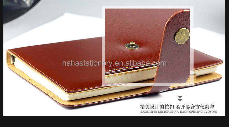 2017 leather hard cover high quality made in China PU note <strong>book</strong> with pen