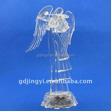 Acrylic LED transparent angel play the violin wholesale outdoor Christmas decorations
