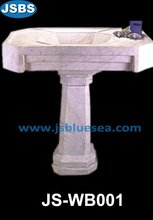 Carved marble trough basin
