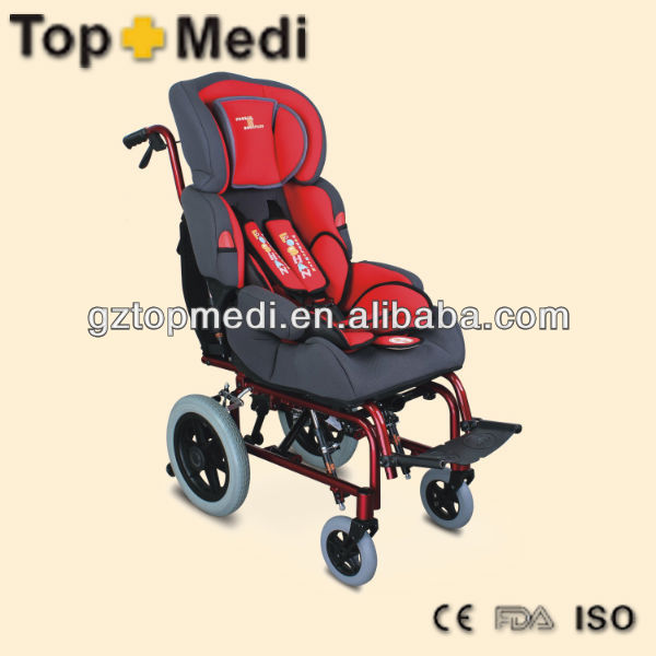 Aluminum Foldable Frame Manual Cerebral Palsy Pediatric / Children Wheelchair
