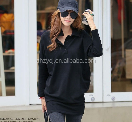 China supplier Korea design lady long sleeve fashion woman casual dress