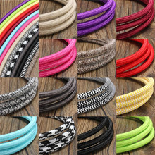 Vintage Style 2/3 Core 0.75mm 1.5mm Fabric Cable Wire Electrical Wire Colorful Cable And Wire