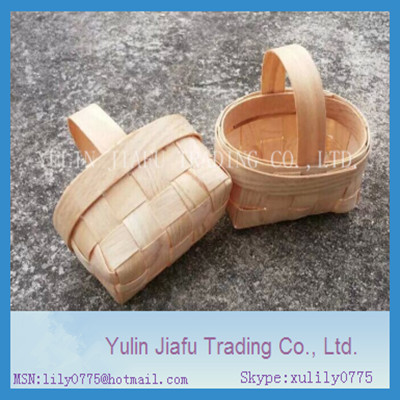 Quart Rectangular Vented Wooden Berry Baskets