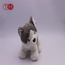 2018 most popular wholesale cheap custom stuffed soft plush dog toy husky for girls