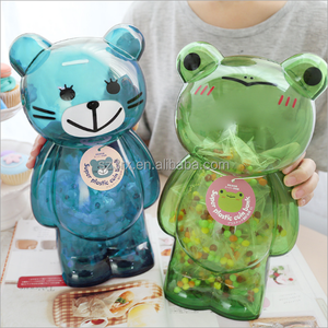 Custom large plastic coin bank;large plastic coin banks;novelty large plastic coin banks for kids