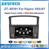 ZESTECH factory price car dvd radio auto parts for Mitsubishi Pajero V93 V97 with radio gps navigation dvd cd mp3 video player