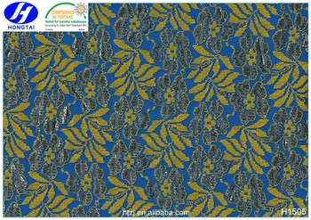 Hongtai floral nylon polyester african lace fabric in China 2017