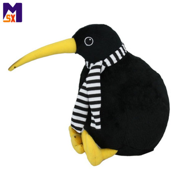 Custom stuffed kiwi bird cute plush bird toy