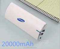 Dual usb charger ,Crescent-shaped portable charger 20000mAh,super fast mobile phone charger