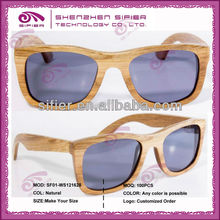 2013 Popular Brand Bamboo Women Sunglasses