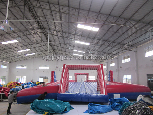 Fun Soap Football Arena Inflatable Soccer Field with PVC Tarpaulin