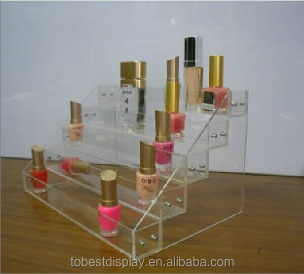 European style store unique acrylic makeup cosmetic display case