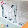(YL-2961) Best quality deck mounted three handles 5 hole bathtub faucet