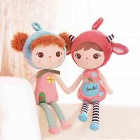 Metoo Angela Girl Plush Dolls Cartoon Stuffed Plush Toys Lovey Girl Sleeping Dolls for Children Birthday Gifts